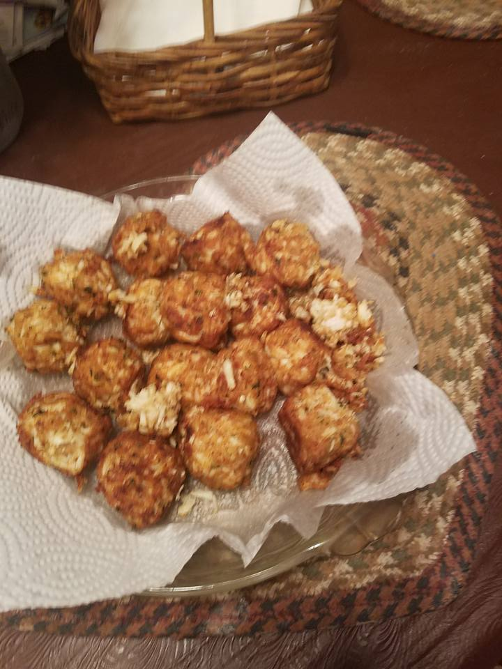 CRAB BOMBS COOKED