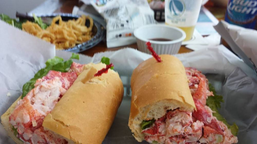 Lobster Roll, Pleasant View Inn, Misquanicut Rhode Island