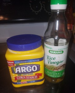 rice vinegar cornstarch